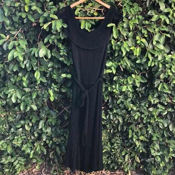 Anthropologie Dresses & Skirts - Anthropologie Wide Neck Drapey Cocktail Dress sz M